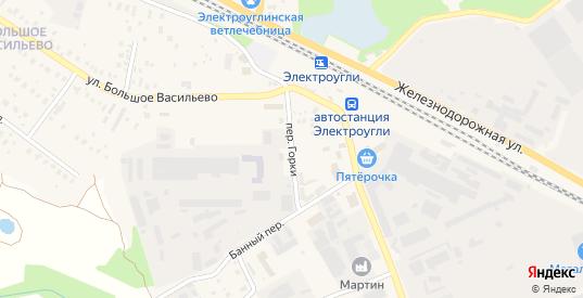 Переулок Горки в Электроуглях с номерами домов на карте. Спутник и схема онлайн