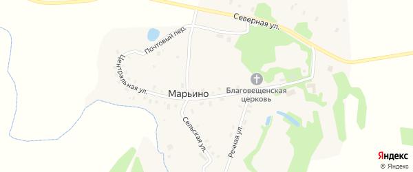 Северная улица на карте села Марьино Ярославская области с номерами домов