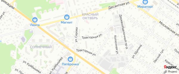 Тракторная улица на карте Раменского с номерами домов