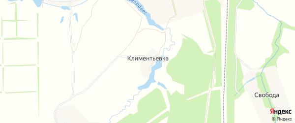 Карта деревни Климентьевка в Тульской области с улицами и номерами домов