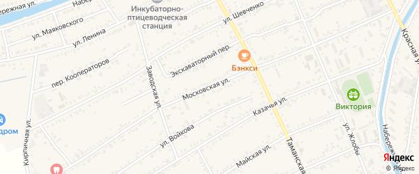 Московская улица на карте Полтавской станицы Краснодарского края с номерами домов