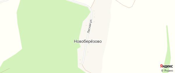 Лесная улица на карте хутора Новоберезово Курской области с номерами домов