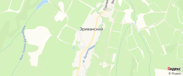Карта Эриванский хутора в Краснодарском крае с улицами и номерами домов
