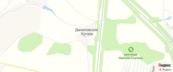 Карта поселка Даниловские Хутора в Тульской области с улицами и номерами домов