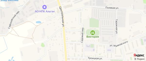 Радужный переулок на карте Электроуглей с номерами домов