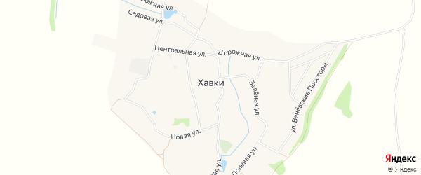 Карта села Хавков в Тульской области с улицами и номерами домов