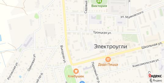 Троицкий 1-й переулок в Электроуглях с номерами домов на карте. Спутник и схема онлайн