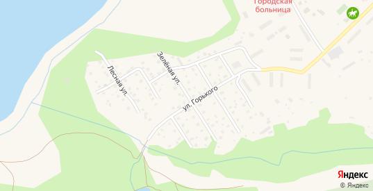 Зеленая улица в Краснозаводске с номерами домов на карте. Спутник и схема онлайн