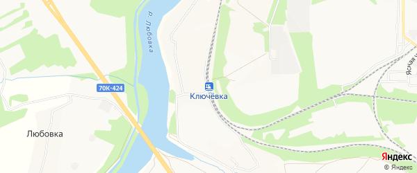 Карта станции Ключевки города Новомосковска в Тульской области с улицами и номерами домов