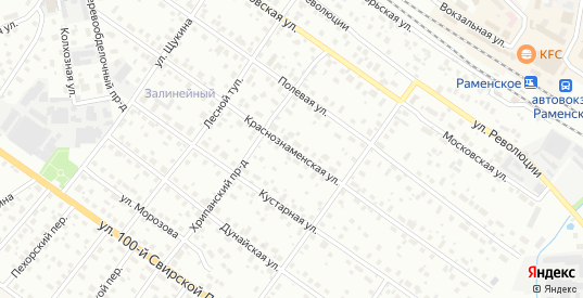 Краснознаменская улица в Раменском с номерами домов на карте. Спутник и схема онлайн