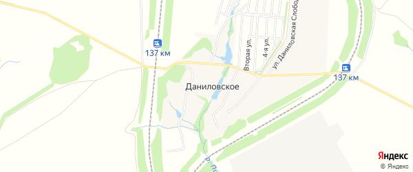 Карта деревни Даниловского в Тульской области с улицами и номерами домов