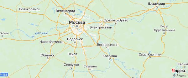 Карта Раменского района Московской области с городами и населенными пунктами