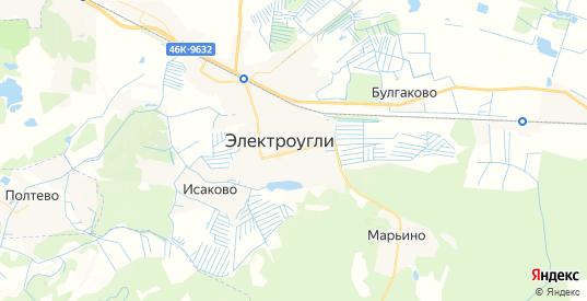 Карта Электроуглей с улицами и домами подробная. Показать со спутника номера домов онлайн