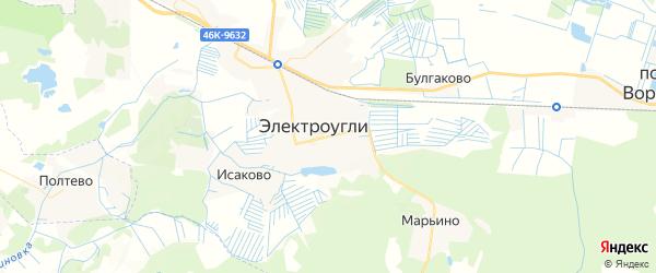 Карта Электроуглей с районами, улицами и номерами домов
