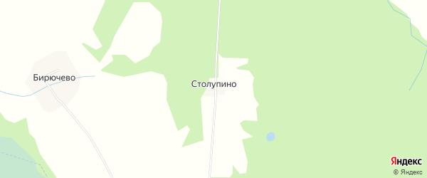Карта деревни Столупино в Вологодской области с улицами и номерами домов