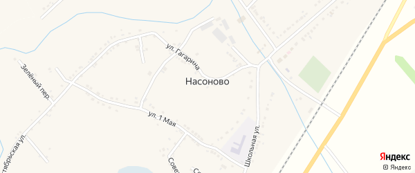 Мирный переулок на карте села Насоново с номерами домов