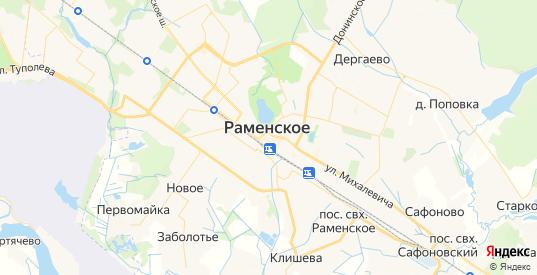 Карта Раменского с улицами и домами подробная. Показать со спутника номера домов онлайн