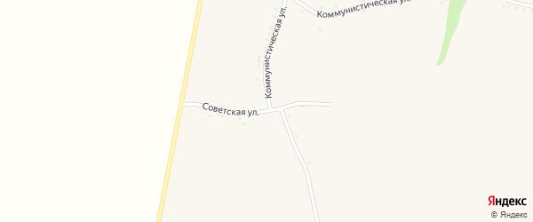 Советская улица на карте села Верхососны с номерами домов