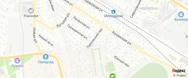 Парковский переулок на карте Раменского с номерами домов