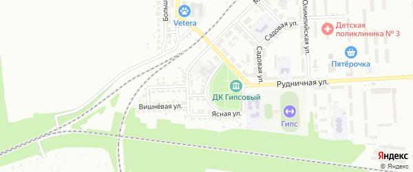 Пчеловодная улица на карте Новомосковска с номерами домов