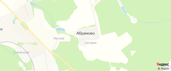 Карта деревни Абрамово в Московской области с улицами и номерами домов