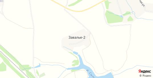 Карта деревни Завалье-2 в Московской области с улицами, домами и почтовыми отделениями со спутника онлайн