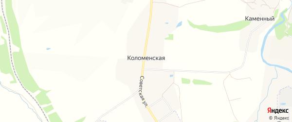 Карта Коломенской слободы в Тульской области с улицами и номерами домов