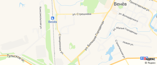 Карта Южного микрорайона в Тульской области с улицами и номерами домов