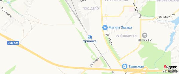 Карта станции Урванки города Новомосковска в Тульской области с улицами и номерами домов