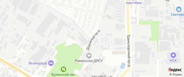 Дорожный проезд на карте Раменского с номерами домов