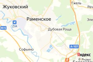 Карта г. Раменское Московская область