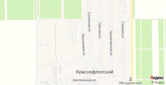 Парниковая улица в поселке Краснофлотский в Ейске с номерами домов на карте. Спутник и схема онлайн