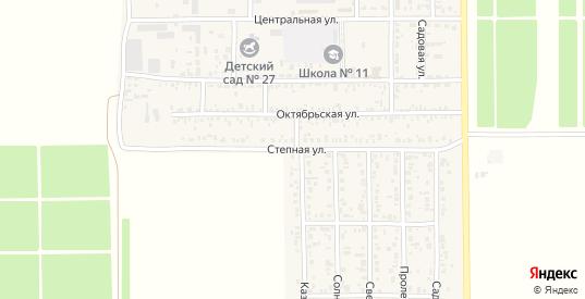 Степная улица в поселке Краснофлотский в Ейске с номерами домов на карте. Спутник и схема онлайн