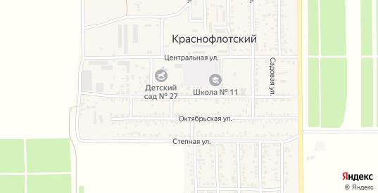 Комсомольская улица в поселке Краснофлотский в Ейске с номерами домов на карте. Спутник и схема онлайн