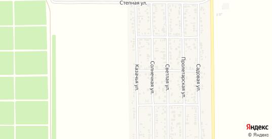 Казачья улица в поселке Краснофлотский в Ейске с номерами домов на карте. Спутник и схема онлайн