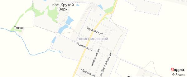 Карта Комсомольского микрорайона города Донского в Тульской области с улицами и номерами домов