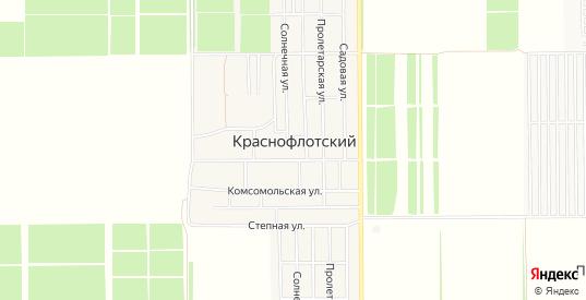 Карта поселка Краснофлотский в Ейске с улицами, домами и почтовыми отделениями со спутника онлайн