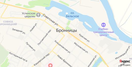 ГСК Фаворит на карте Бронниц с номерами домов