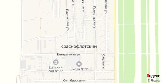 Гаражная улица в поселке Краснофлотский в Ейске с номерами домов на карте. Спутник и схема онлайн