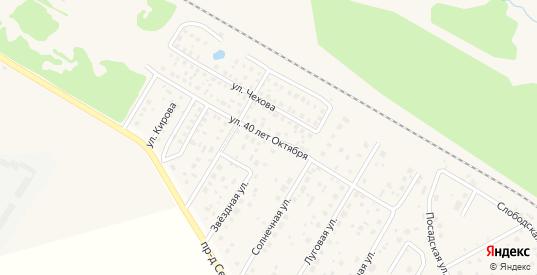 Улица 40 лет Октября в Краснозаводске с номерами домов на карте. Спутник и схема онлайн