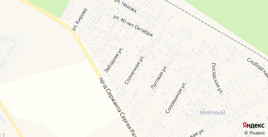 Солнечная улица в Краснозаводске с номерами домов на карте. Спутник и схема онлайн