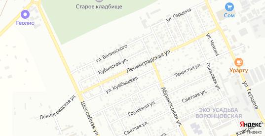 Ленинградская улица в Ейске с номерами домов на карте. Спутник и схема онлайн