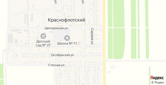 Пролетарская улица в поселке Краснофлотский в Ейске с номерами домов на карте. Спутник и схема онлайн
