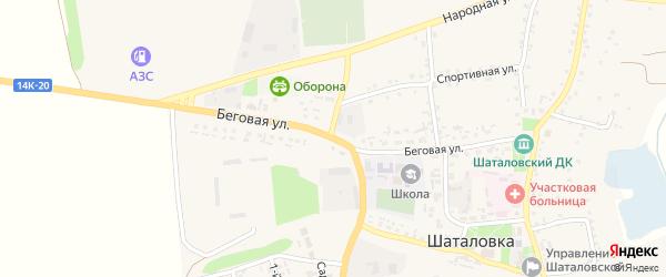 Беговая улица на карте села Шаталовки с номерами домов