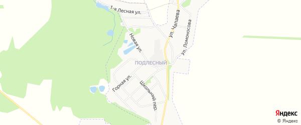 Карта Подлесного микрорайона города Донского в Тульской области с улицами и номерами домов