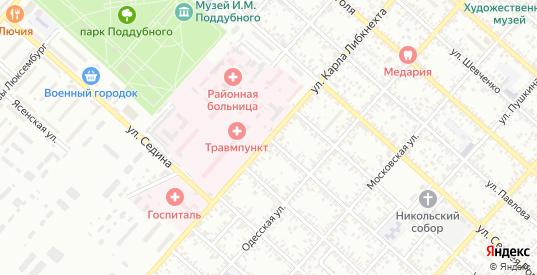 Улица Сазонова в Ейске с номерами домов на карте. Спутник и схема онлайн