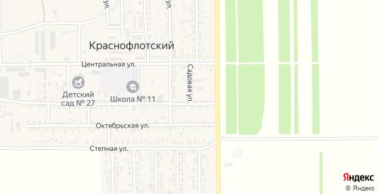 Садовая улица в поселке Краснофлотский в Ейске с номерами домов на карте. Спутник и схема онлайн