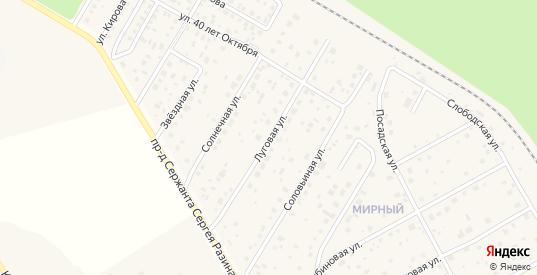 Луговая улица в Краснозаводске с номерами домов на карте. Спутник и схема онлайн