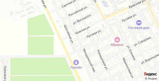 Мичуринский переулок в Ейске с номерами домов на карте. Спутник и схема онлайн