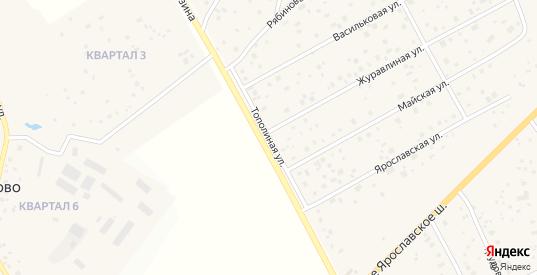Тополиная улица в Краснозаводске с номерами домов на карте. Спутник и схема онлайн